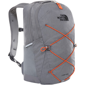 The North Face Jester Backpack, zinc grey dark heather/persian orange